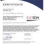 TECTON Abu Dhabi ISO 14001 2015 valid till 2022 04 01