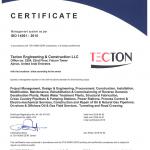 TECTON Ajman ISO 14001 2015 valid till 2022 04 01
