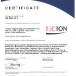 TECTON Ajman ISO 9001 2015 valid till 2022 04 01